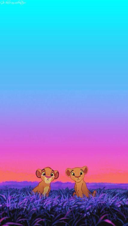Simba and Nala... Loving. iPhone wallpaper