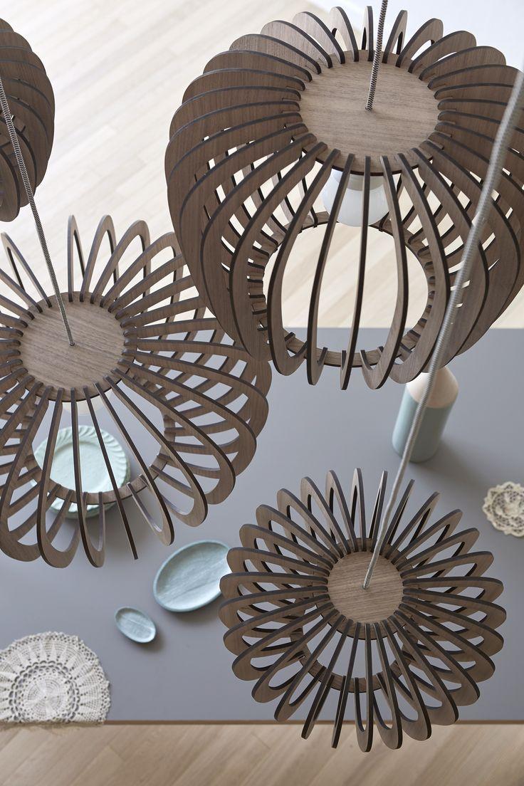Wooden pendant lamp CORALINE - @miniforms