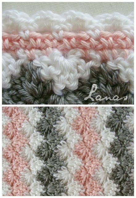Lanas de Ana: Blanket: Pastel Waves* ༺✿ƬⱤღ http://www.pinterest.com/teretegui/✿༻