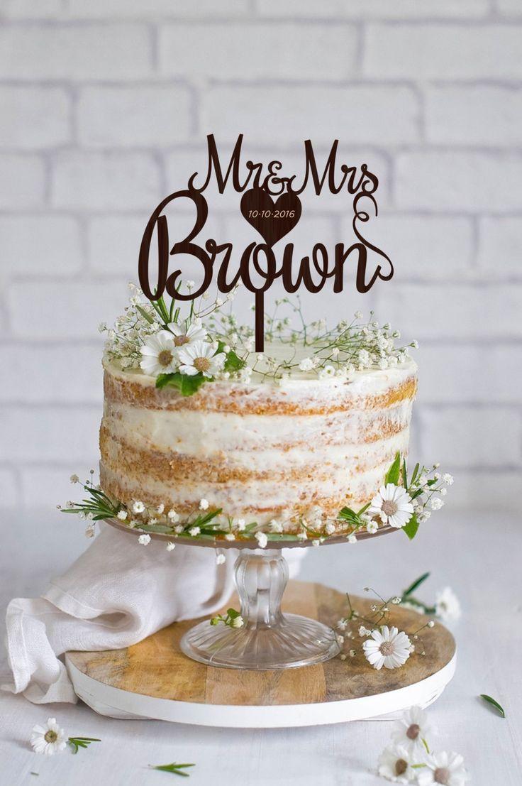 Bridal shower cake topper soon to be mrs cake topper