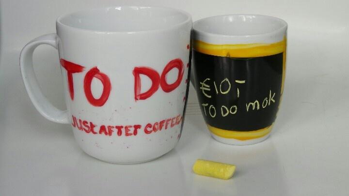 TO DO Mok voor koffiedrinkers die georganiseerd willen blijven