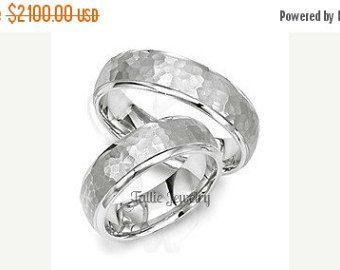 OP verkoop platina zijn en haar bijpassende ringen ingesteld, Womens trouwringen, platina bijpassende trouwringen, zijn en haar trouwringen, Mens Weddin
