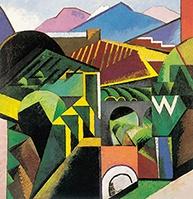 Expo - Le Grand Atelier du midi - Paysage de Céret, Auguste Herbin,1913.