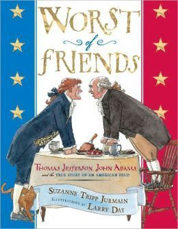 John Adams and Thomas Jefferson were good friends with different personalities. But their differing views on how to run the newly created United States turned them into the worst of friends. They each became leaders of opposing political parties, and their rivalry followed them to the White House. Full of both history and humor, this is the story of two of America's most well-known presidents and how they learned to put their political differences aside for the sake of friendship. 973.4 JUR