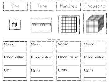 17 Best ideas about Base Ten Blocks on Pinterest | Base ten ...