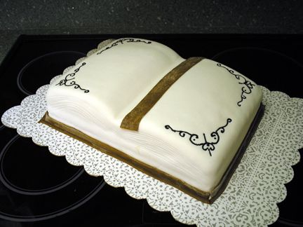 Open Book Cake For Library Author Day A In The Shape Of An