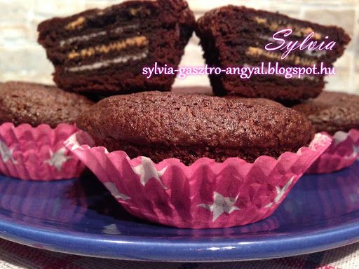 Sylvia Gasztro Angyal: Oreo kekszes mogyoróvajas brownie muffin
