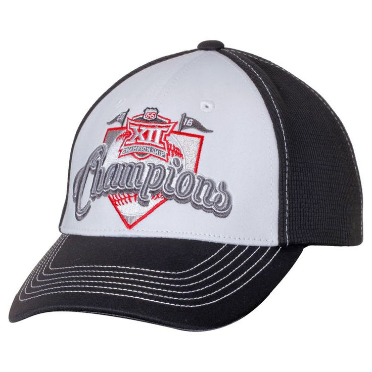 TCU Horned Frogs Top of the World 2016 Big 12 Baseball Conference Champions Adjustable Hat - White/Black