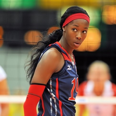 She's my favorite volleyball player. Well, her and Nakeyta Claire.