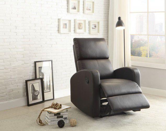 Mendon Contemporary Dark Brown Bi-Cast Vinyl Reclining Chair