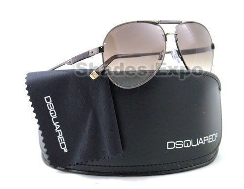 DSQUARED SUNGLASSES DQ 0024 48F BROWN DSQURED2. 100% Authentic & Genuine - Guaranteed!. Guaranteed Brand New!. With Original Case and Packaging as Provided by the Manufacturer. MADE IN ITALY.