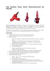 MSVA Stop Valves are available in angle-way and straight-way versions and with Standard neck (MSVA-S). The stop valves are designed to meet all industrial refrigeration application requirements and are designed to give favourable flow characteristics and are easy to dismantle and repair when necessary. The valve cone is designed to ensure perfect closing and withstand a high system pulsation and vibration, which can be present specifically in the discharge line.