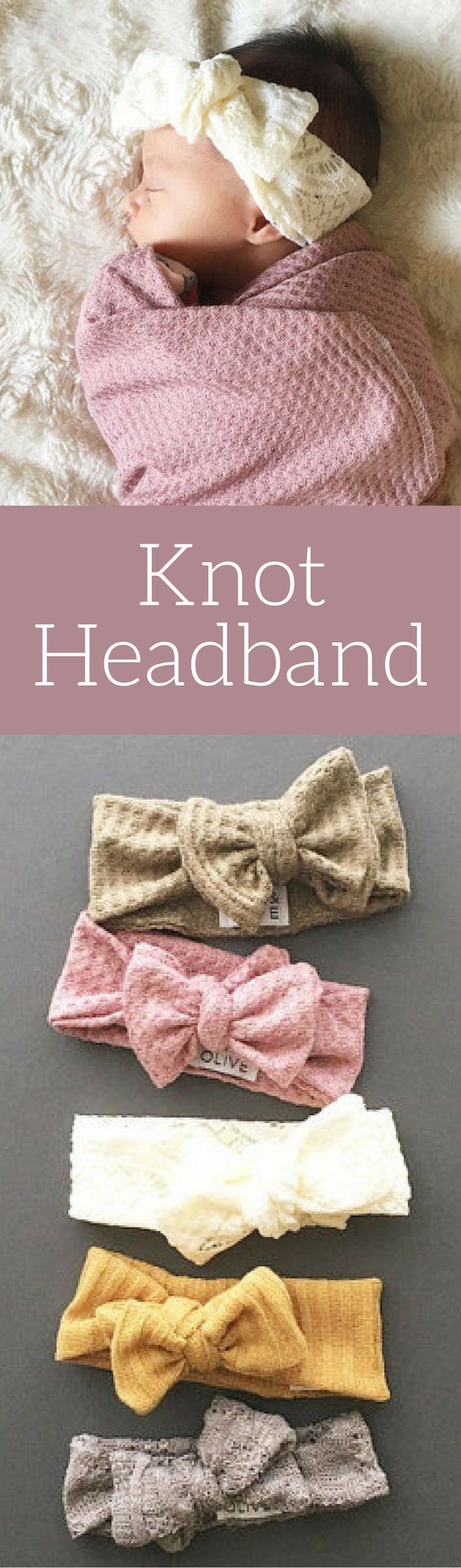 Love these soft baby girl head bands. Would be a great little gift for a baby shower gift! Knot Headband for toddler and baby.  Hairbow headband, Bow headband, infant headband #ad #affiliatelink