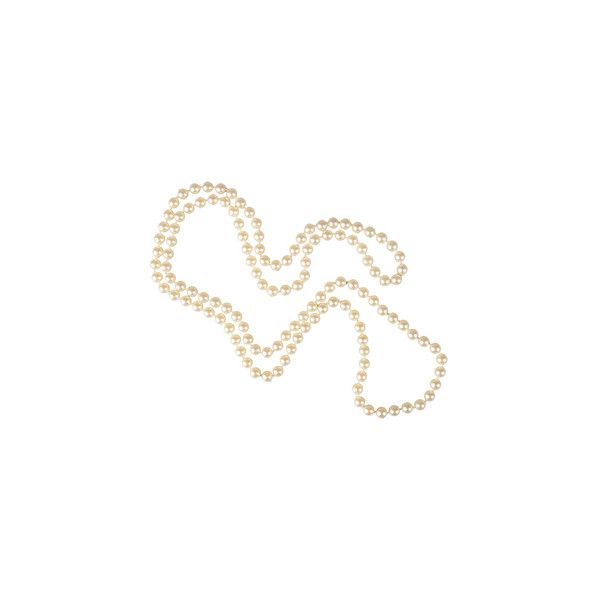 Joy::Louche Long Pearl Bead Necklace ($9.65) ❤ liked on Polyvore