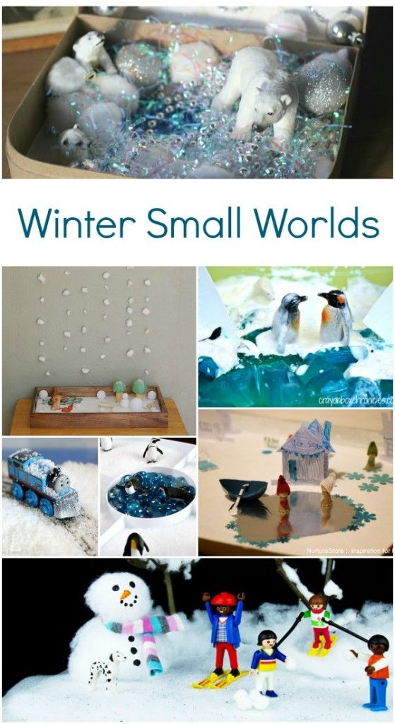 Winter Small Worlds - fun way to learn about winter
