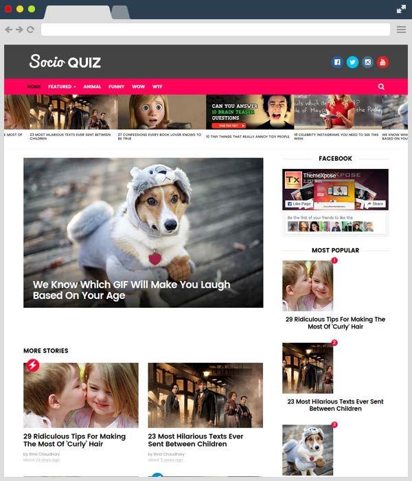 Socio Viral \ Buzz Responsive Free #Blogger Template blog - free quiz template