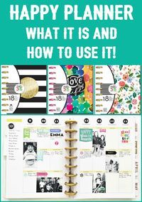 "Are you curious about the Happy Planner? I took a class and am ""happy"" to share everything I learned about this fantastic planner and how to use it! MichaelsMakers DIY Candy"