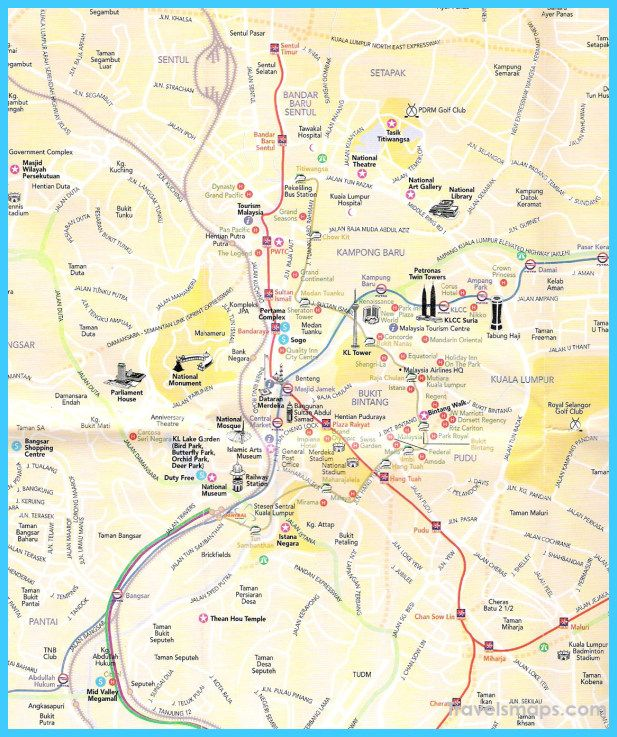 awesome Map of Kuala Lumpur