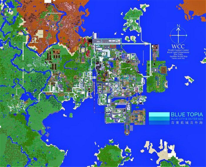 Blue Topia Creation Minecraft Pe Maps Blue City Minecraft Pe Minecraft Building