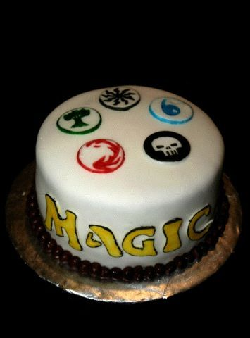 Magic: The Gathering Cake for the boy's party (well wishes / peace offering for stealing the soon to be wifey for the night :) )