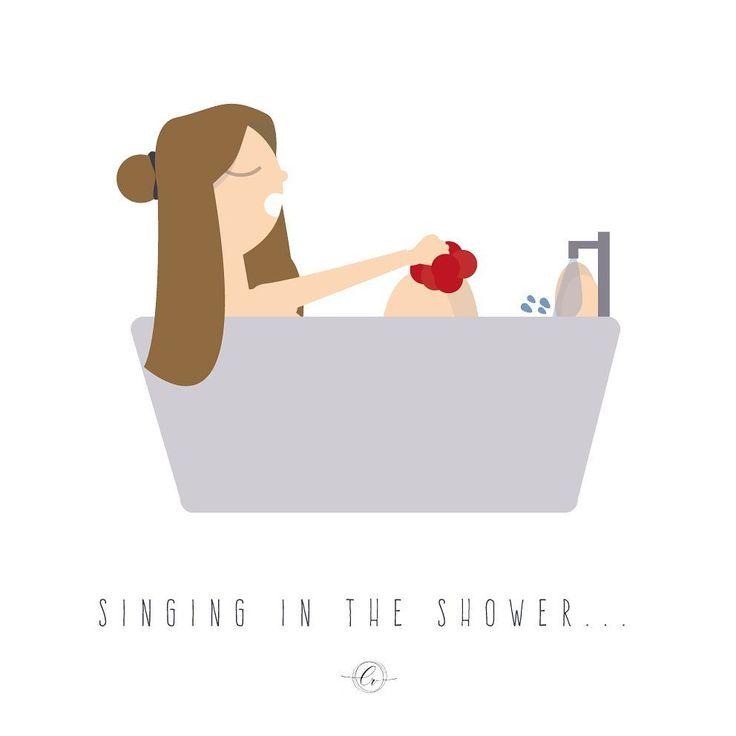 Dancing in the mirror, singing in the shower 🎶🎵#diadelamusica  #momentoderelax #design #flatdesign #illustrator #vector #singingintheshower