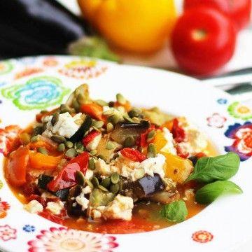 Ratatouille med fetaost - Recept - Tasteline.com