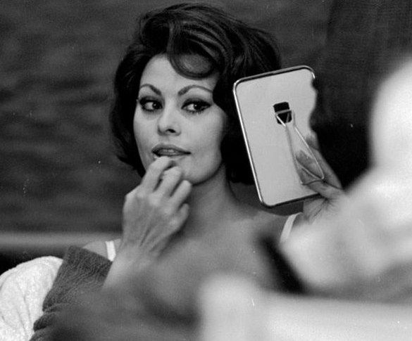 gatabella — Sophia Loren on the set of A Countess From Hong...