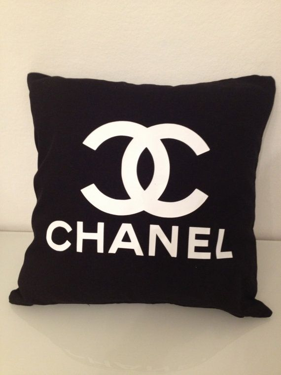 Black and White Chanel Ispired Pillow Logo by thevoguehouse, €27.00