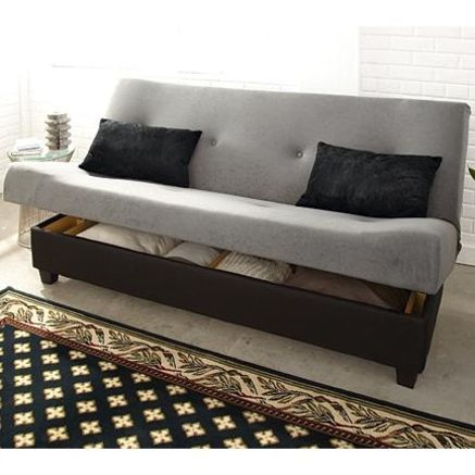 Klik klak marvin39 sleeper futon with hidden storage for Sears futon sofa bed