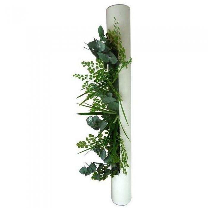 Tableau végétal METAL Tube blanc  129.00 atylia