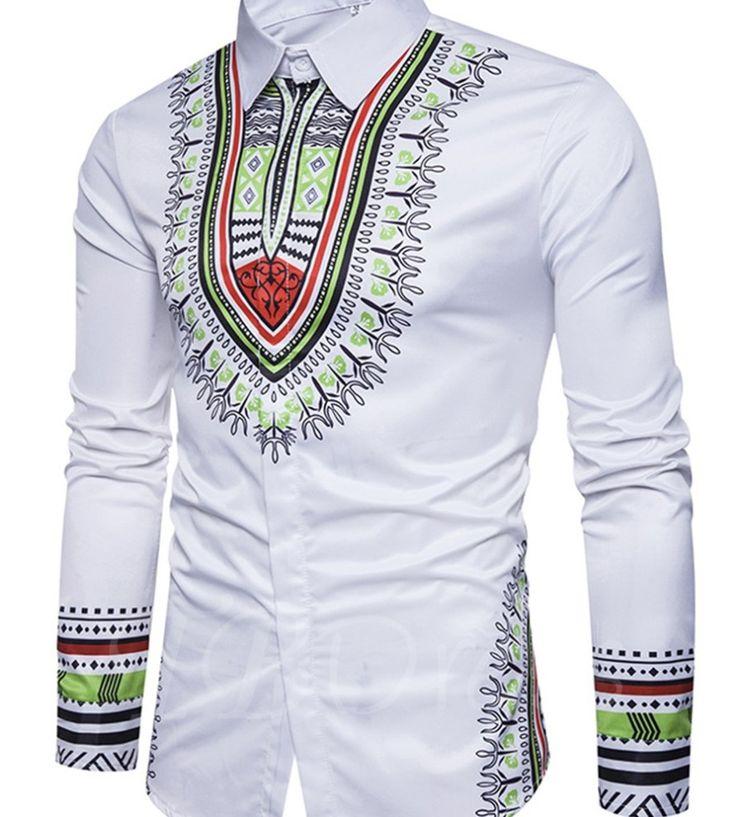 White dashiki Men shirt