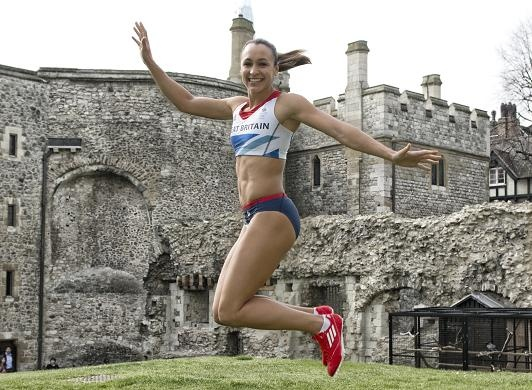 Team GB star Jessica Ennis gears up for the London Olympics with an exclusive photoshoot outside the Tower of London. Picture by @dickiepelham1