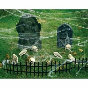 scary halloween decorated yards | Cemetery Halloween Yard Decorations