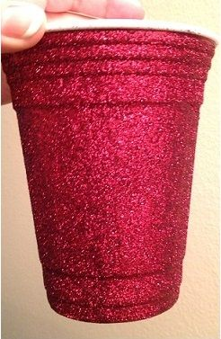 Post-Grad Crafting: GLITTER Red Solo Cup! (Washable!)
