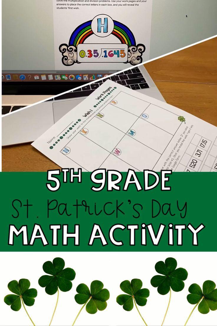 St. Patrick's Day Escape Room | Math Activity | Math ...