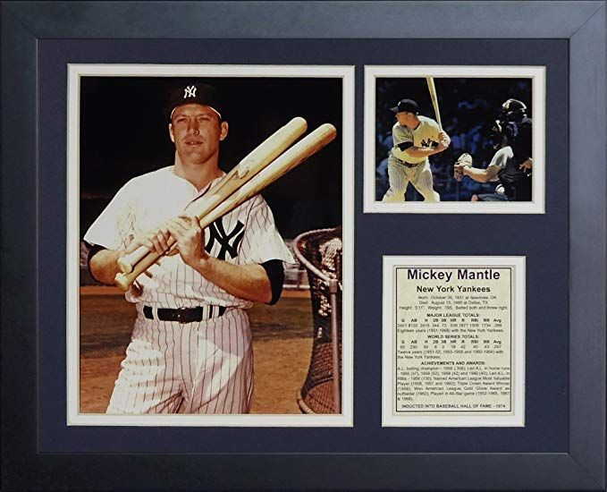 Legends Never Die Mickey Mantle Bats Framed Photo Collage 11x14-Inch