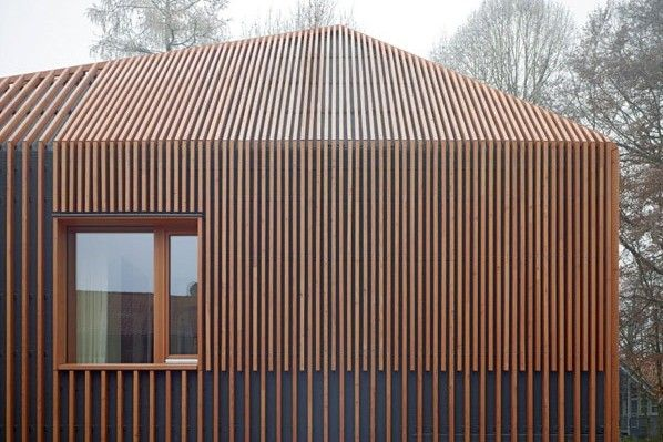 Wood design architectural details wood windows wood frames and shutters in contemporary - The shutter clad house ...