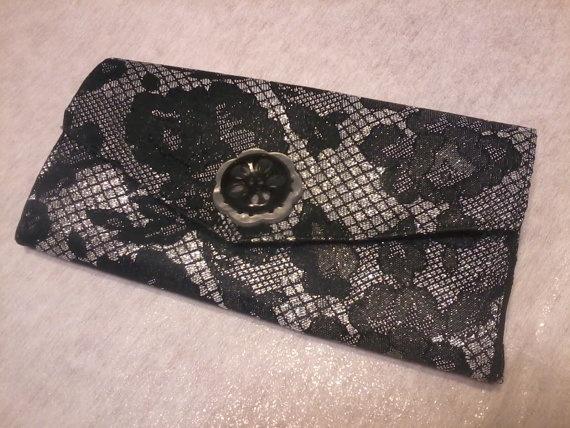 Black Lace Clutch
