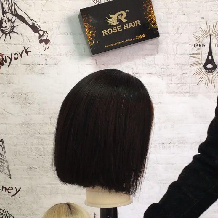 13*4 Lace Front Bob Wig Human Hair Mix Color Hair