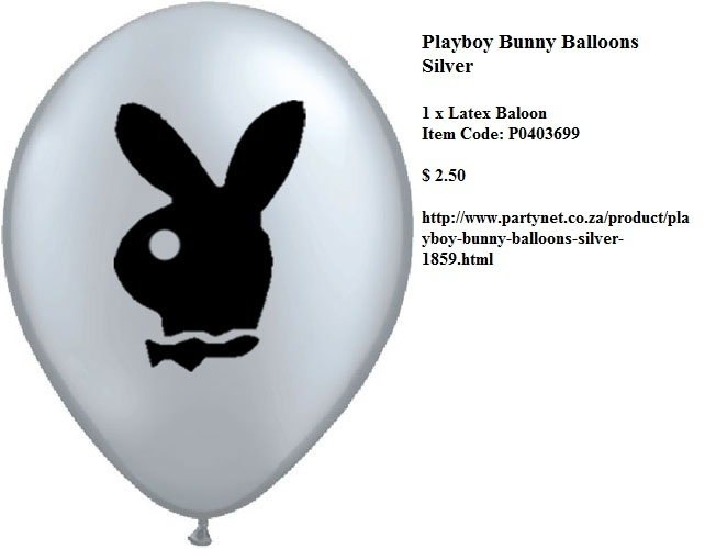 Playboy Bunny Balloons Silver  http://www.partynet.co.za/product/playboy-bunny-balloons-silver-1859.html