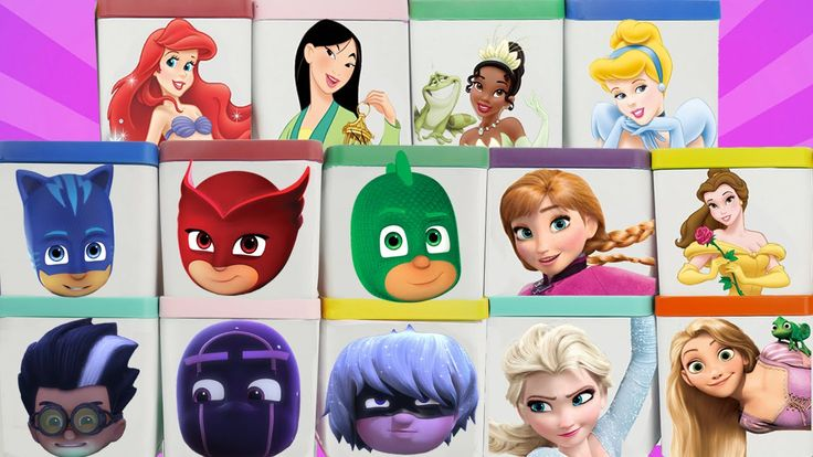PJ Masks Toys & Disney Jr Princess Blind Box Toy Surprise Show with Mashems Fashems with Sparkle Spice. We open cool blind boxes from our favorite characters and find toy surprises and surprise eggs. We also find candy and jelly beans.   Our Disney Princesses are Ariel Mulan Tiana Cinderella Anna Elsa Frozen Rapunzel and Belle. Our PJ Masks characters are Gekko Owlette Catboy Romeo Ninjalino and Luna Girl.  Subscribe here to never miss a video…