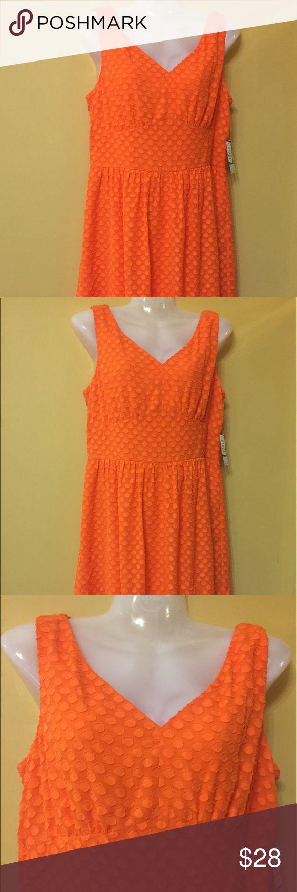 Nine West Orange Dress Nine West Orange Dress Nine West Dresses Midi