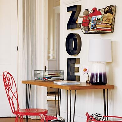 Kids Wall Decor: Metal Hanging Wall Letters in Alphabet Wall Art