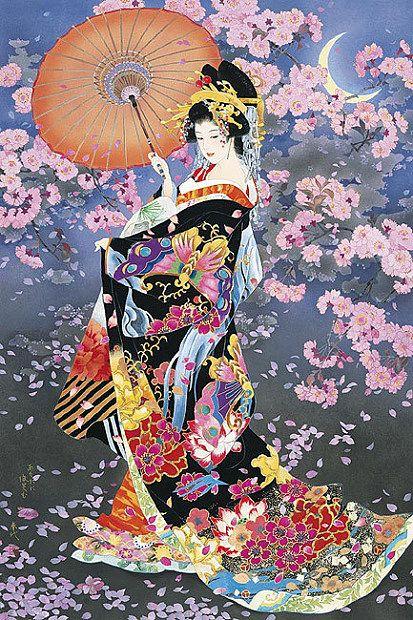 Девушка набор для вышивания красота по-японски рукоделие люди 14ct холст неокрашенной dmc счетный diy вышивка крестом наборы ручной работы-арт декор