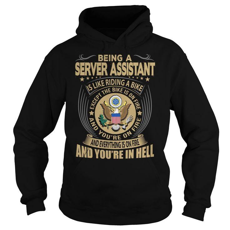 Server Assistant Job Title T-Shirts, Hoodies. GET IT ==► https://www.sunfrog.com/Jobs/Server-Assistant-Job-Title-104275460-Black-Hoodie.html?id=41382
