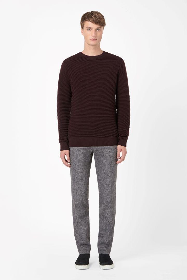 COS | Wool rib-effect jumper