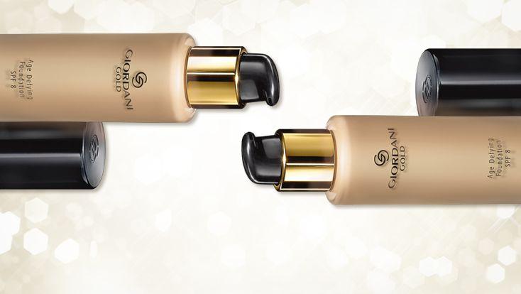 Αντιγηραντικό Make-up Age Defying Giordani Gold Make-up για τέλεια επιδερμίδα που χαρίζει ομοιόμορφο τόνο και ορατά πιο νεανική όψη2. Με σπάνια Εκχυλίσματα Λευκής Τρούφας που διαθέτουν αντιοξειδωτικές ιδιότητες για πιο φωτεινή και όμορφη όψη με απαλό, λείο τελείωμα.