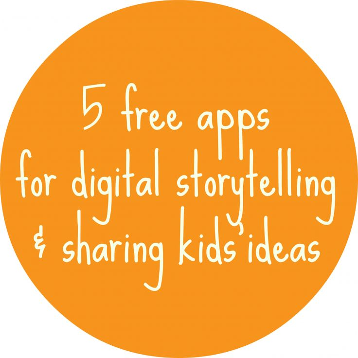 5 FREE apps for having kids create, illustrate, record, and share stories.