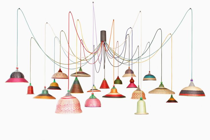 A collaboration between Madrid-based designer Alvaro Catalán de Ocón and a group of artisans in the Colombian Amazonia and beyond, the PET Lamp collection is a vibrant, soulful project that transforms trash into treasure. Each PET Lamp is one of a kind. The shades are created by hand from discarded plastic bottles that are cut into strips and interwoven with dyed and un-dyed palm tree fibers by artisans in South America. Then Catalán de Ocón assembles the electrical sockets and colorful…