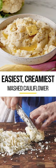How To Make the Creamiest Mashed Cauliflower Side Dish Recipe. This is low-carb recipe is easy, creamy, healthy, vegan (if you don't add butter) and totally unique! There's absolutely no dairy -- meaning you don't need cream to make this easy weeknight side. Great if you're looking for frozen cauliflower recipes or side dishes, or a replacement for mashed potatoes.